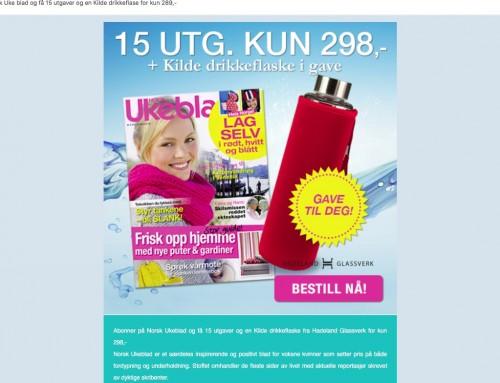 Egmont Hjemmet Mortensen spammer istykker merkevaren